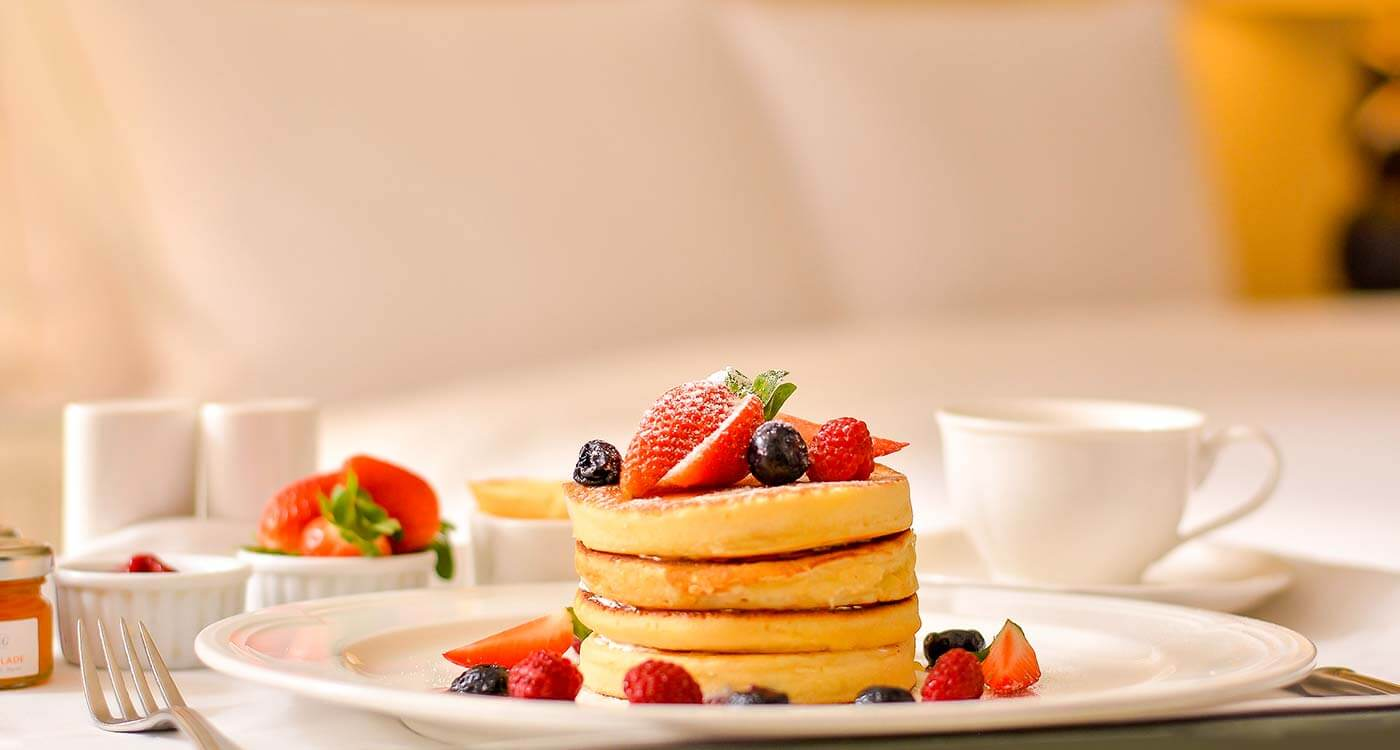Pancake Garnished with Berries, The Kingsbury