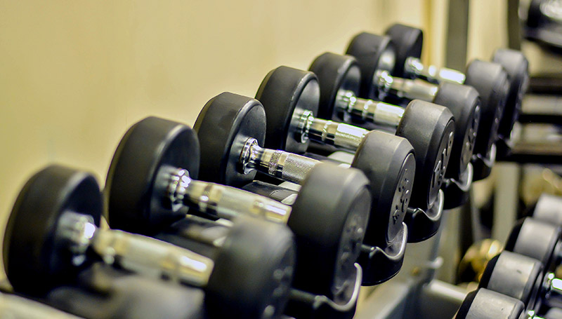 Dumbbells at The Gym at Kingsbury Colombo